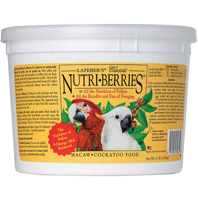 Lafeber's Nutri-Berries Macaw & Cockatoo Food - Carousel image #1