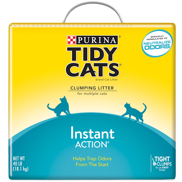Tidy Cats Clumping Instant Action Multi Cat Litter, 40 lbs. - Carousel image #1