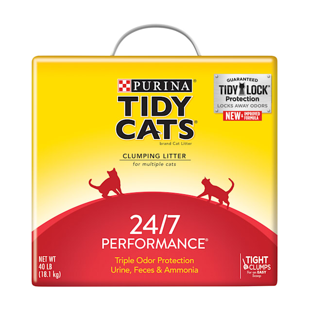 Tidy Cats Clumping 24/7 Performance Multi Cat Litter, 40 lbs. - Carousel image #1