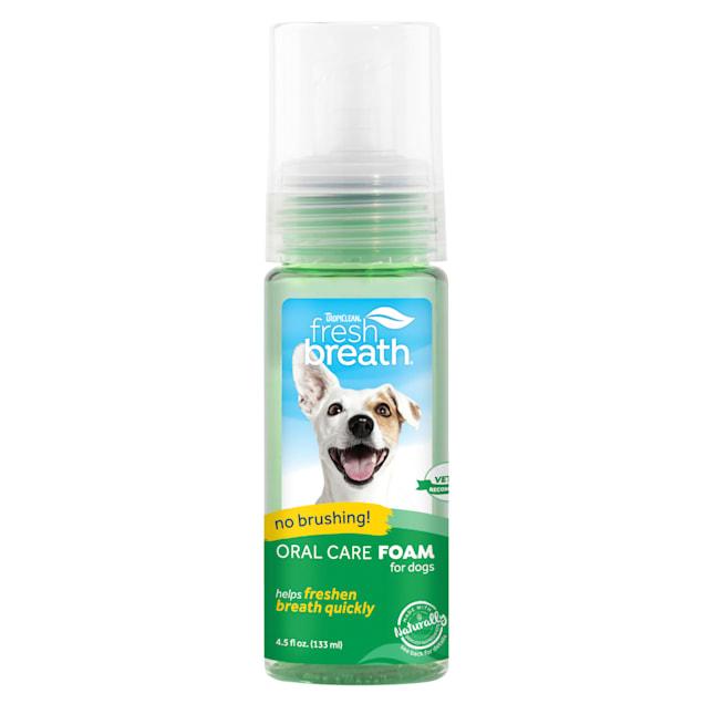 TropiClean Fresh Breath Oral Care Mint Foam for Pets, 4.5 fl. oz. - Carousel image #1