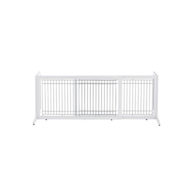 """Richell Freestanding Pet Gate in Origami White, Large, 71.3"""" L X 17.7"""" W X 20.1"""" H. - Carousel image #1"""