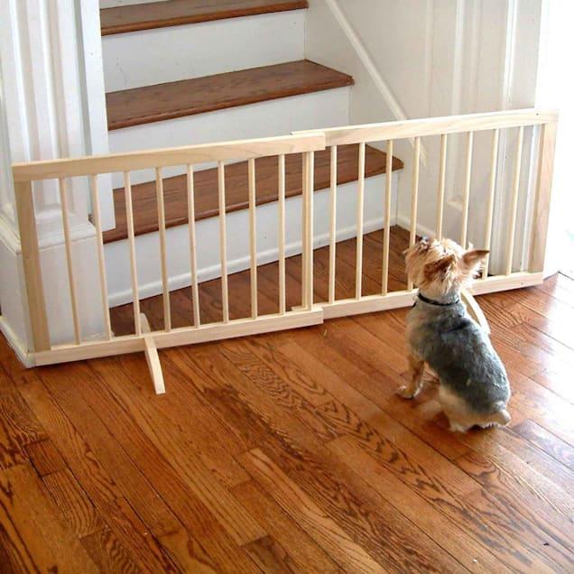 Cardinal Gates Natural Wood Step-Over Pet Gate - Carousel image #1