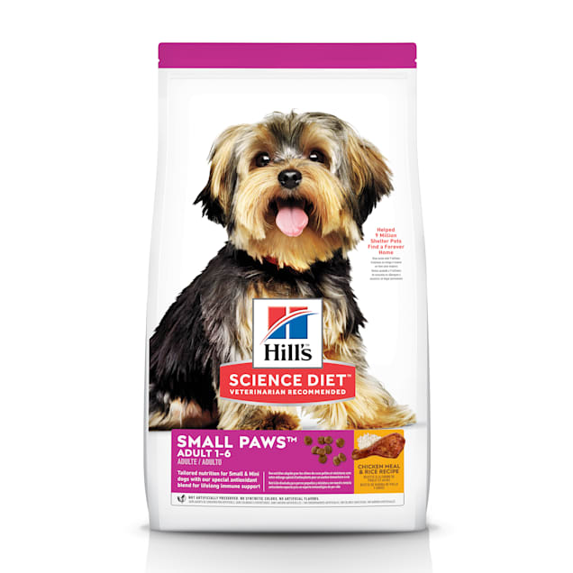 Hill's Science Diet Adult Small Paws Chicken Meal & Rice Recipe Dry Dog Food, 15.5 lbs. - Carousel image #1