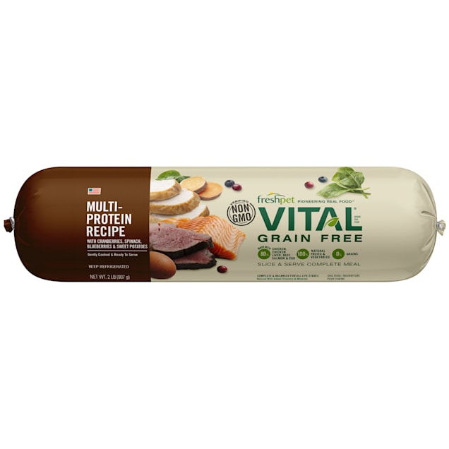 Freshpet Vital Grain Free Chicken, Beef, Salmon & Egg Fresh Dog Food, 2 lbs. - Carousel image #1