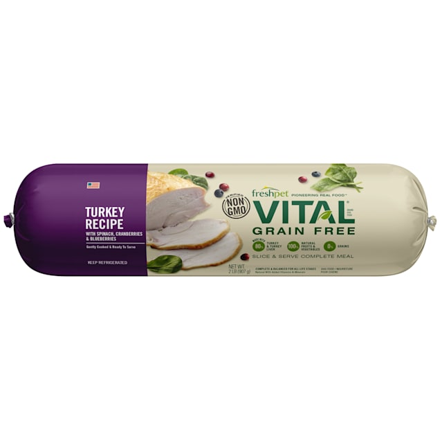 Freshpet Vital Grain Free Turkey Fresh Dog Food, 2 lbs. - Carousel image #1
