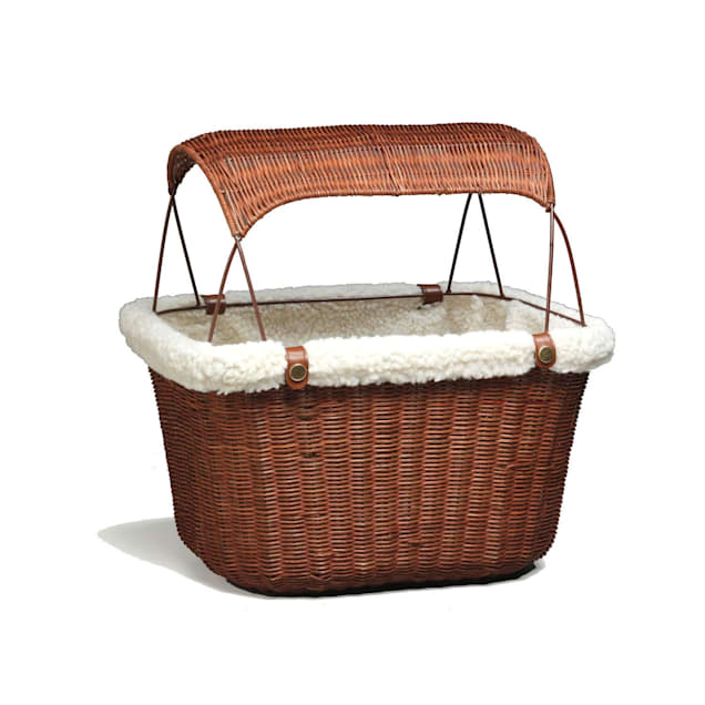 PetSafe Happy Ride Tagalong Wicker Bicycle Basket for Dogs, Small - Carousel image #1