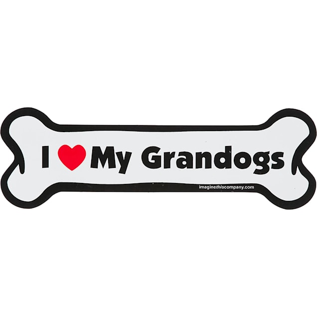Imagine This I Love My Grandogs Bone Shaped Car Magnet - Carousel image #1