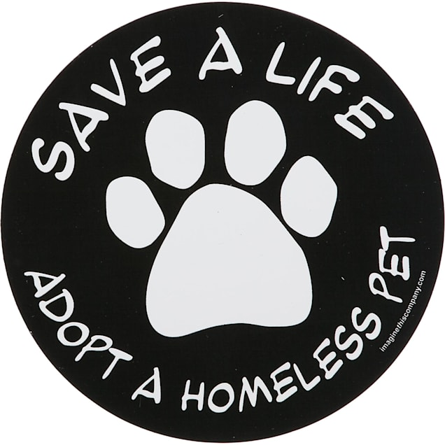 Imagine This Save A Life Adopt A Homeless Pet Car Magnet - Carousel image #1
