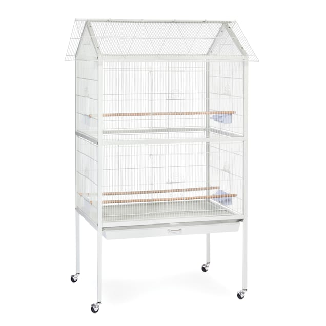 Prevue Pet Products Flight Aviary White Bird Cage - Carousel image #1