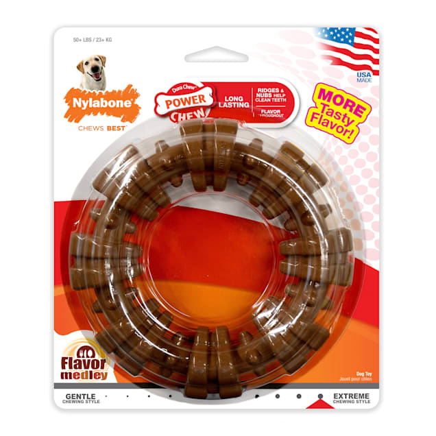 Nylabone Power Chew Textured Chew Ring Dog Toy, X-Large - Carousel image #1