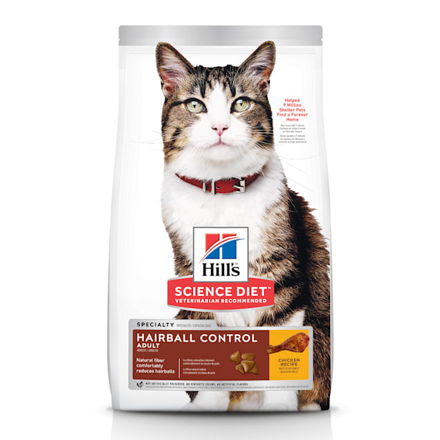 Hill's Science Diet Adult Hairball Control Chicken Recipe Dry Cat Food, 15.5 lbs. - Carousel image #1
