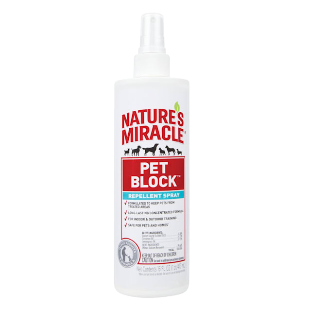 Nature's Miracle Pet Block Repellent Spray, 16 fl. oz. - Carousel image #1