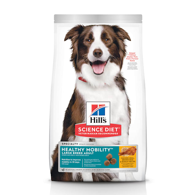 Hill's Science Diet Adult Healthy Mobility Large Breed Chicken Meal, Brown Rice & Barley Recipe Dry Dog Food, 30 lbs., Bag - Carousel image #1