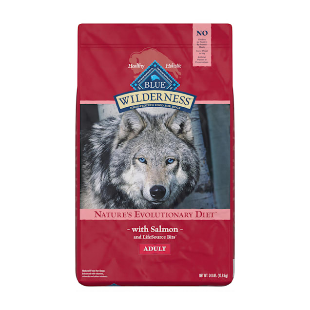 Blue Buffalo Wilderness Natural Adult High Protein Grain Free Salmon Dry Dog Food, 24 lbs. - Carousel image #1