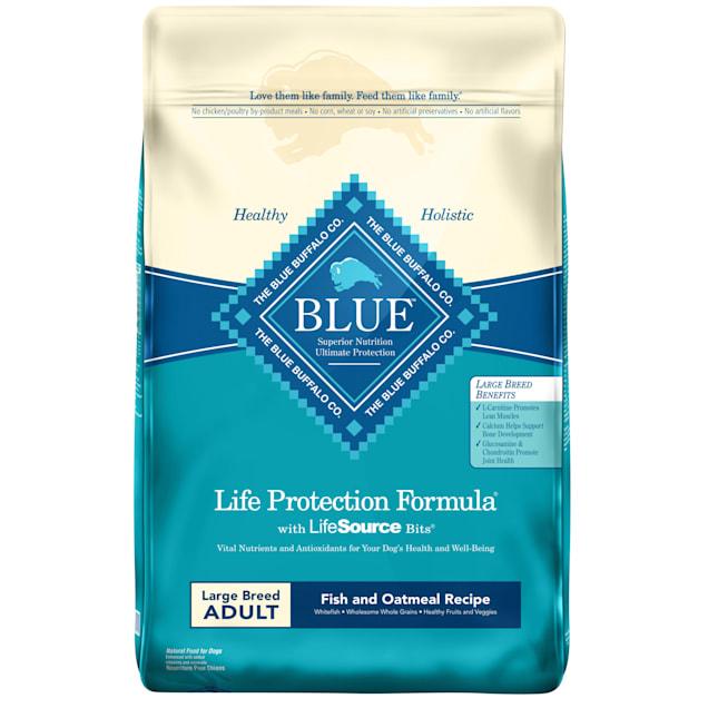 Blue Buffalo Blue Life Protection Formula Large Breed Adult Fish & Oatmeal Recipe Dry Dog Food, 30 lbs. - Carousel image #1