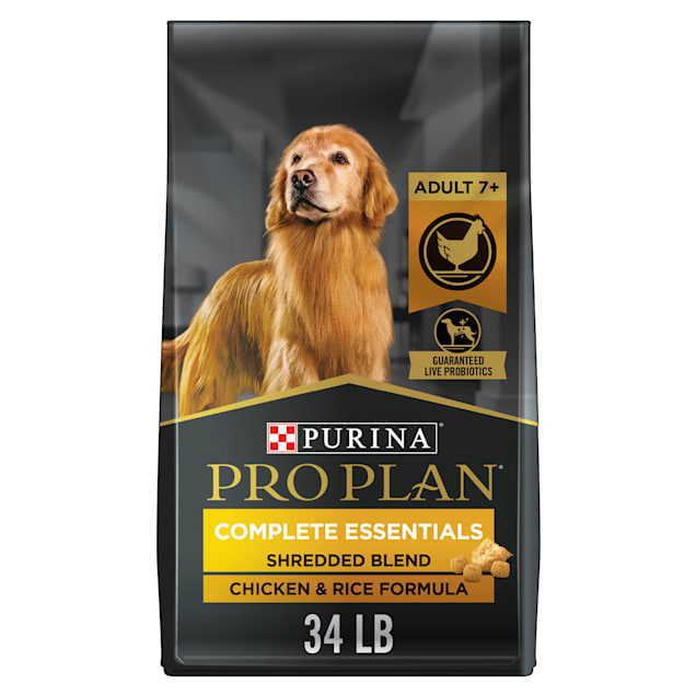 Purina Pro Plan Savor Shredded Blend Chicken & Rice Formula With Probiotics Senior Dry Dog Food, 34 lbs. - Carousel image #1