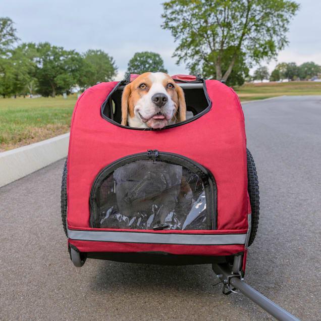 PetSafe Happy Ride Red Dog Bicycle Trailer, Medium - Carousel image #1