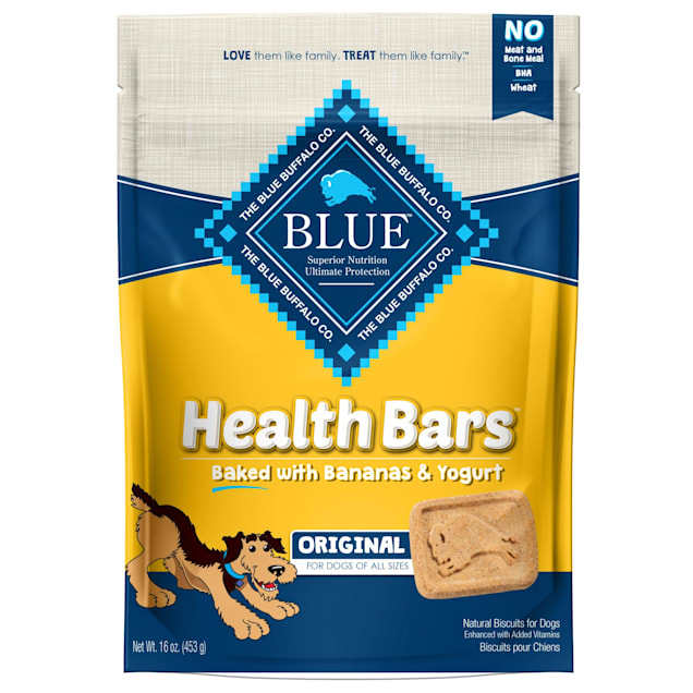 Blue Buffalo Blue Health Bars With Banana and Yogurt Dog Treats, 16 oz. - Carousel image #1