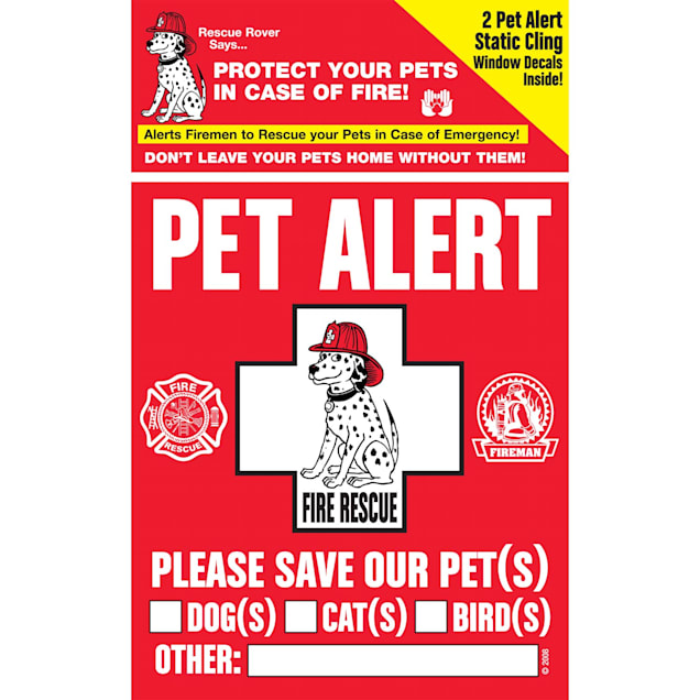 """Pet Safety Alert Rescue Rover Pet Alert Fire Rescue Decals, Pack of 2 decals, 4"""" W X 5"""" H - Carousel image #1"""