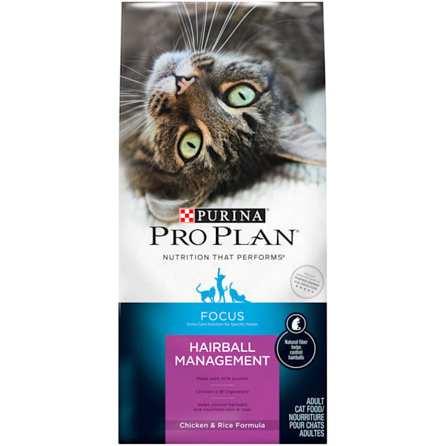Purina Pro Plan Focus Adult Hairball Management Chicken & Rice Formula Cat Food, 3.5 lb. - Carousel image #1