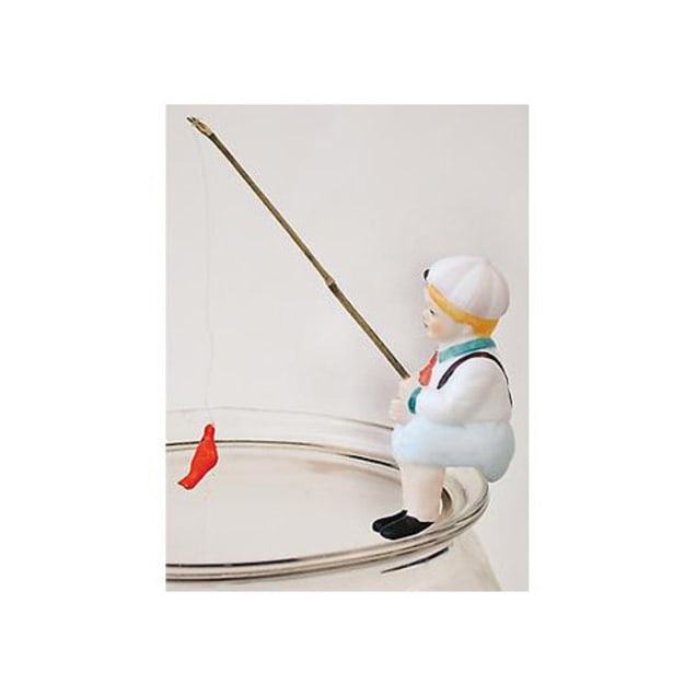 Zoo Med Steve Fishing Boy Hanging Aquarium Ornament - Carousel image #1