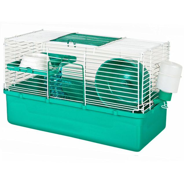 WARE Home Sweet Home Teal 1 Story Hamster Cage - Carousel image #1