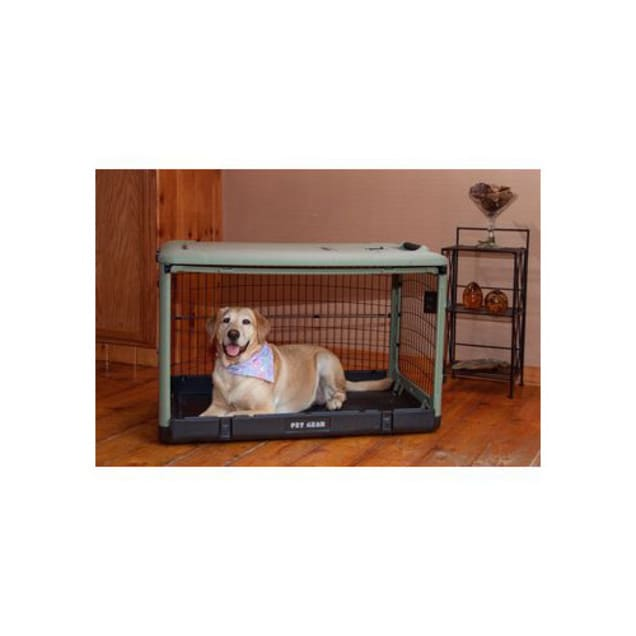 """Pet Gear The Other Door Sage Steel Dog Crate, 42"""" L X 28"""" W X 28"""" H - Carousel image #1"""