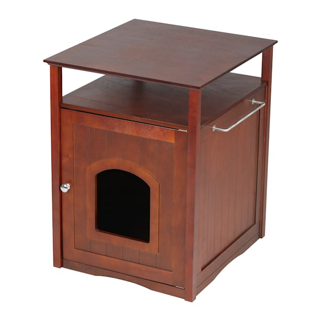 Zoovilla Cat Washroom-Night Stand & Pet House in Walnut - Carousel image #1