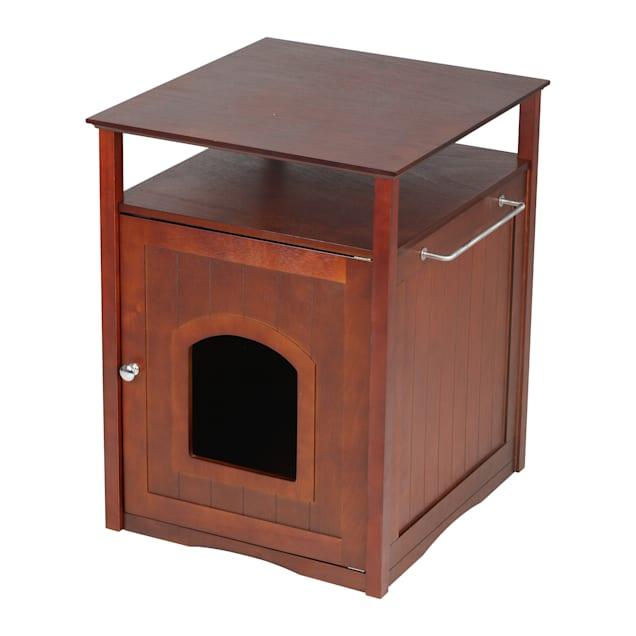 Zoovilla Cat Washroom-Night Stand & Pet House in Walnut - Carousel image #1