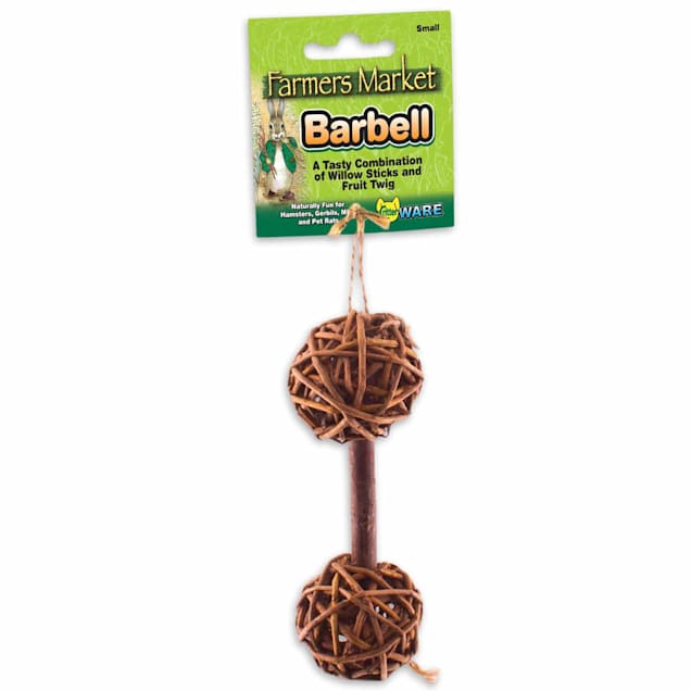 "WARE Small Willow Barbell Chew Toy, 5.25"" L X 1.75"" W - Carousel image #1"
