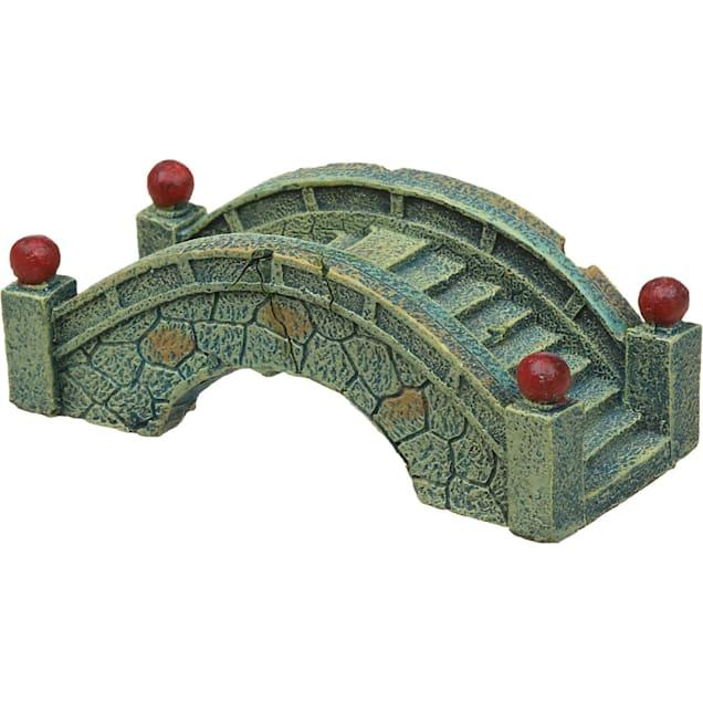 Blue Ribbon Blue Stone Bridge Aquarium Ornament - Carousel image #1