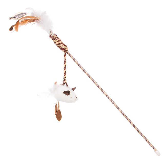 """Our Pet's Play-n-Squeak Twinkle Teaser Wand Cat Toy, 46"""" Length - Carousel image #1"""