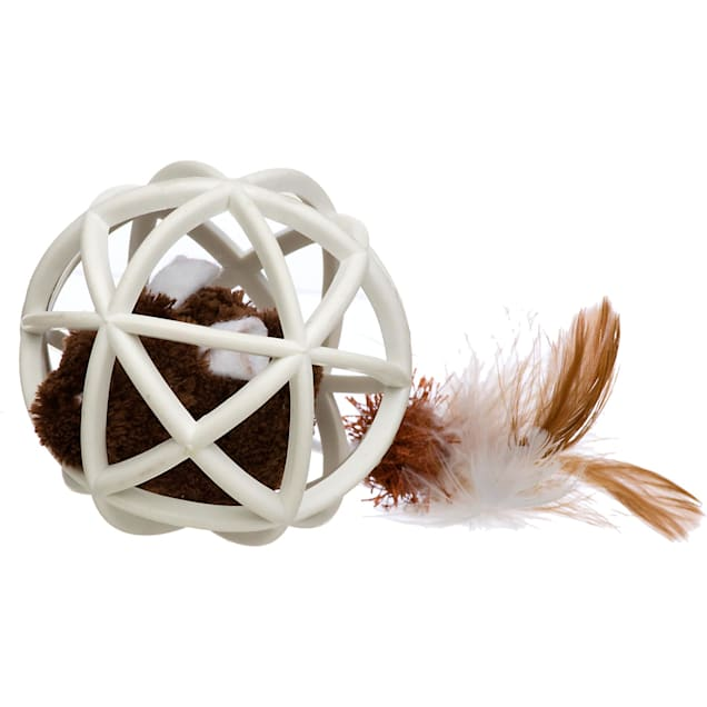 Our Pet's Play-N-Squeak Twinkle Ball of Furry Fury Cat Toy - Carousel image #1