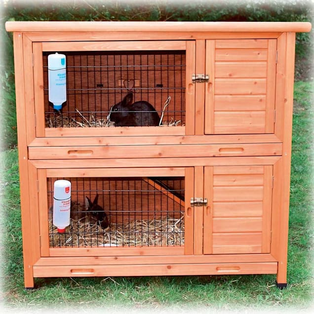 Trixie Natura Two Story Rabbit Hutch - Carousel image #1