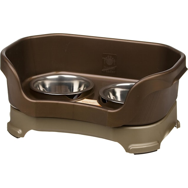 Neater Brands Bronze Elevated Dog Diner, Small - Carousel image #1
