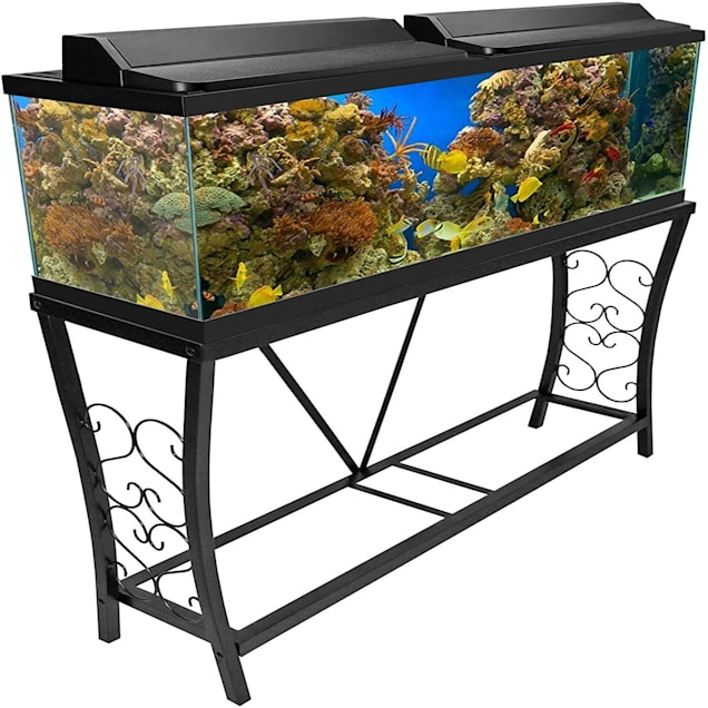 Aquatic Fundamentals Black Scroll Aquarium Stand - for 55 Gallon Aquariums - Carousel image #1