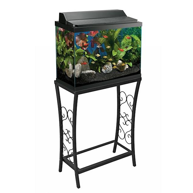 Aquatic Fundamentals Black Scroll Aquarium Stand - for 10 Gallon Aquariums - Carousel image #1