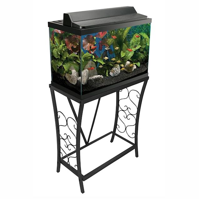 Aquatic Fundamentals Black Scroll Aquarium Stand - for 20 Gallon Aquariums - Carousel image #1