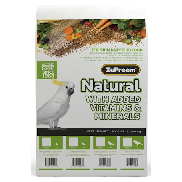 ZuPreem Classic AvianMaintenance Natural Bird Diet for Large Parrots - Carousel image #1