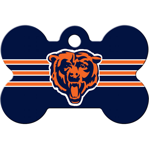 Quick-Tag Chicago Bears NFL Bone Personalized Engraved Pet ID Tag - Carousel image #1