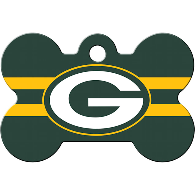 Quick-Tag Green Bay Packers NFL Bone Personalized Engraved Pet ID Tag - Carousel image #1