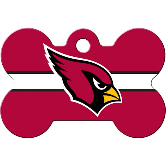 Quick-Tag Arizona Cardinals NFL Bone Personalized Engraved Pet ID Tag, Large - Carousel image #1