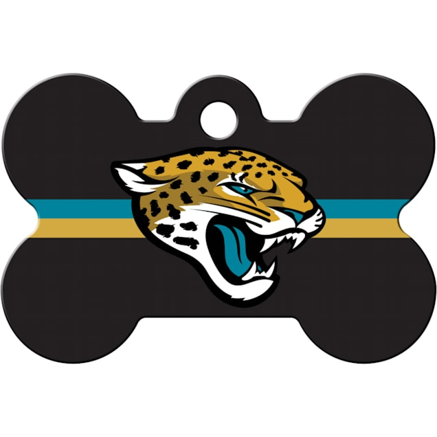 Quick-Tag Jacksonville Jaguars NFL Bone Personalized Engraved Pet ID Tag - Carousel image #1