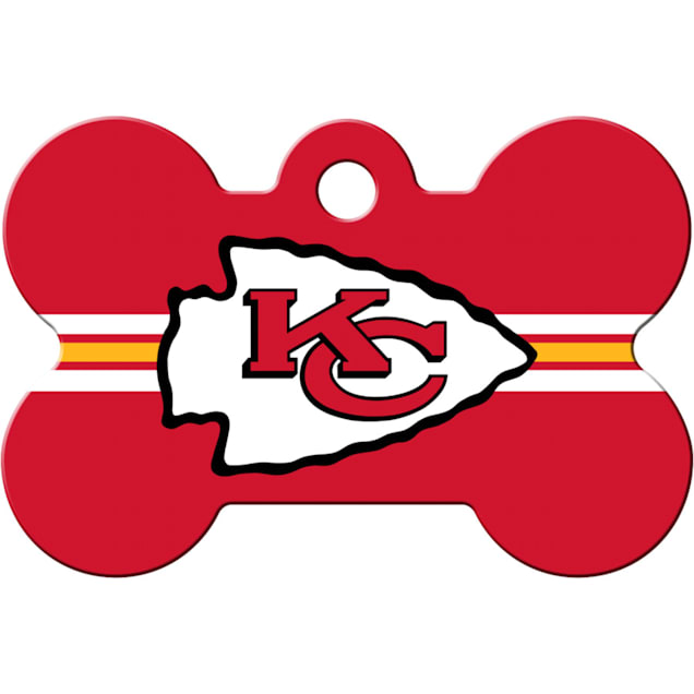 Quick-Tag Kansas City Chiefs NFL Bone Personalized Engraved Pet ID Tag - Carousel image #1