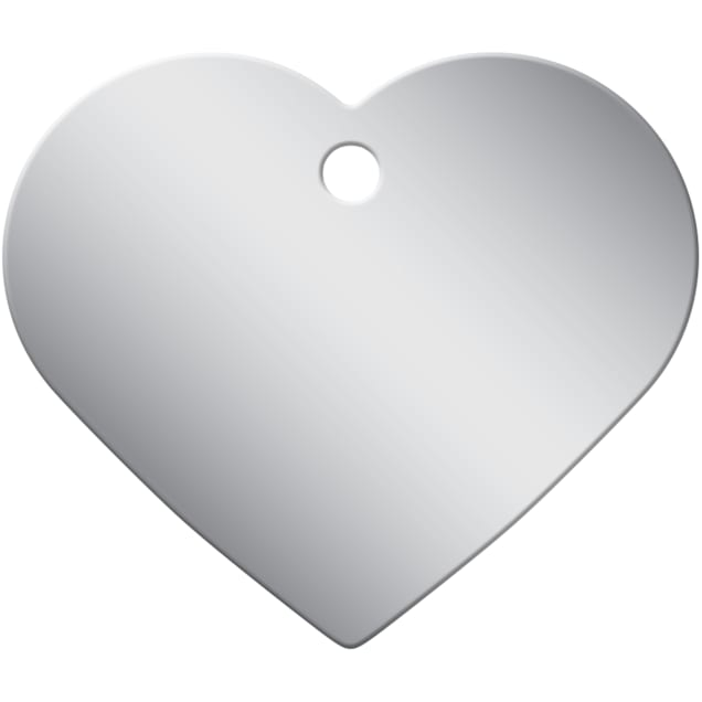 Quick-Tag Large Chrome Heart Personalized Engraved Pet ID Tag - Carousel image #1