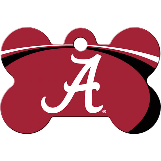 Quick-Tag Alabama Crimson Tide NCAA Bone Personalized Engraved Pet ID Tag - Carousel image #1