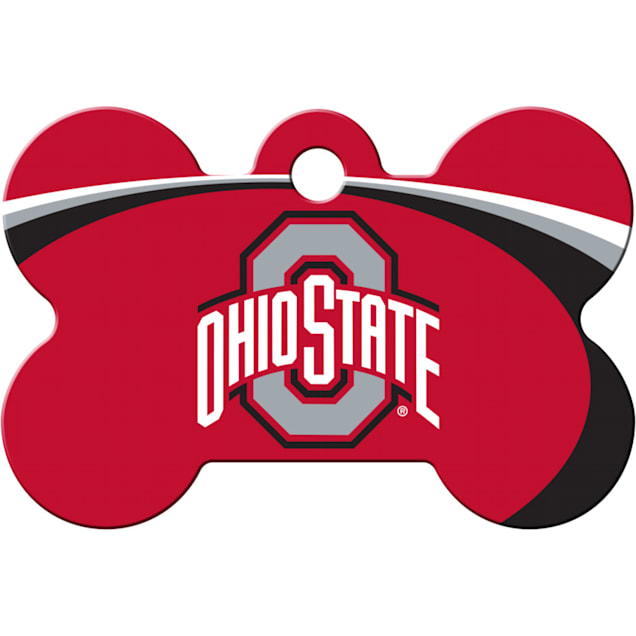 Quick-Tag Ohio State NCAA Bone Personalized Engraved Pet ID Tag - Carousel image #1