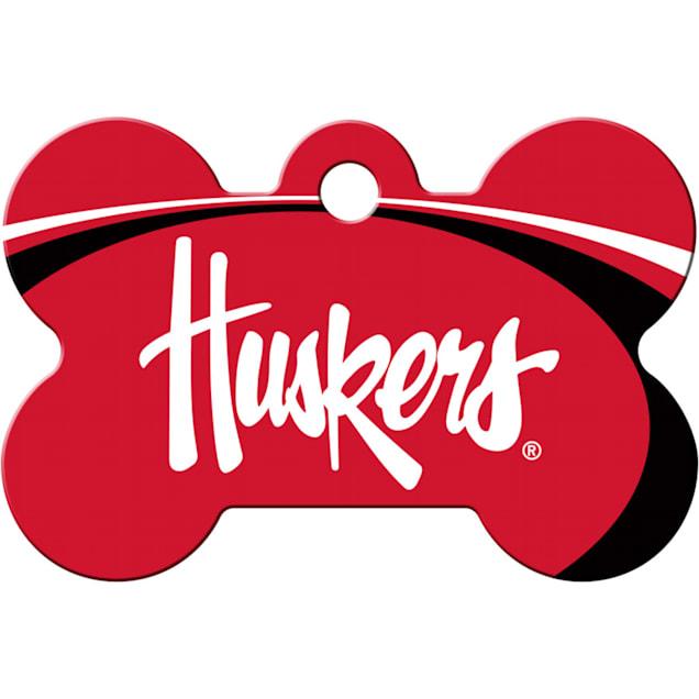 Quick-Tag Nebraska Cornhuskers NCAA Bone Personalized Engraved Pet ID Tag - Carousel image #1