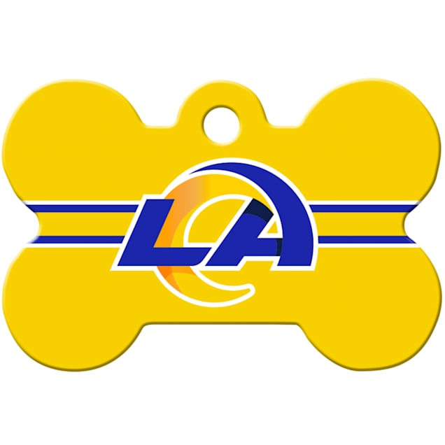 Quick-Tag Los Angeles Rams NFL Bone Personalized Engraved Pet ID Tag - Carousel image #1