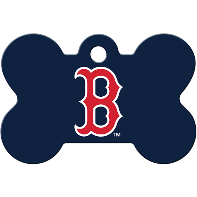 Quick-Tag Boston Red Sox MLB Bone Personalized Engraved Pet ID Tag, Large - Carousel image #1